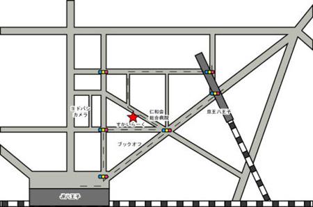 東京八王子の有料自習室の地図
